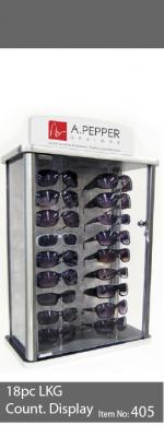 18pc sunglass display case - 405