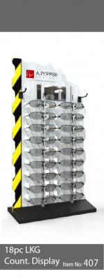 18pc locking sunglass display - 407