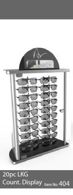 20pc locking sunglass display case - 404